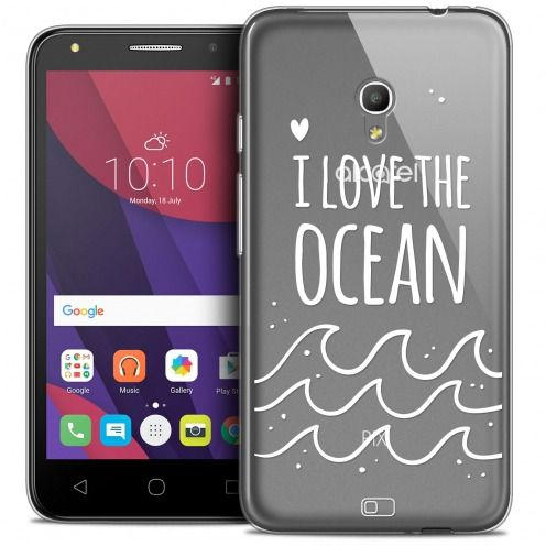 "Coque Crystal Gel Alcatel Pixi 4 5.0"" (5045X) Extra Fine Summer - I Love Ocean"