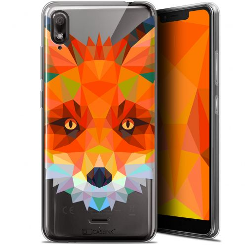 "Coque Gel Wiko View 2 GO (5.93"") Extra Fine Polygon Animals - Renard"