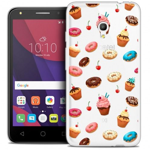 "Coque Crystal Gel Alcatel Pixi 4 5.0"" (5045X) Extra Fine Foodie - Donuts"