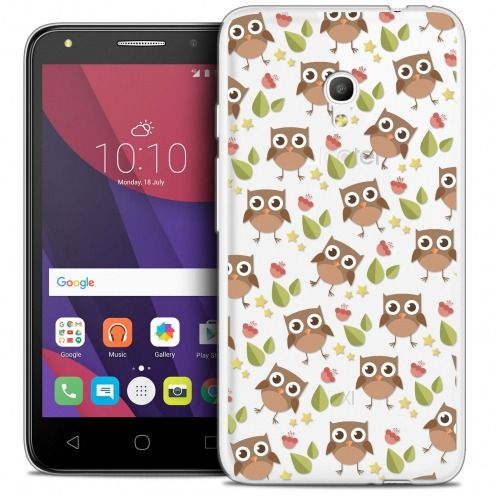 "Coque Crystal Gel Alcatel Pixi 4 5.0"" (5045X) Extra Fine Summer - Hibou"