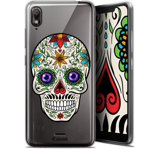"Coque Gel Wiko View 2 GO (5.93"") Extra Fine Skull - Maria's Flower"