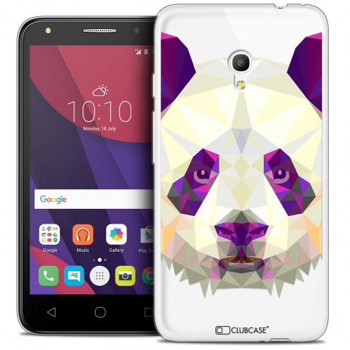 "Coque Crystal Gel Alcatel Pixi 4 5.0"" (5045X) Extra Fine Polygon Animals - Panda"