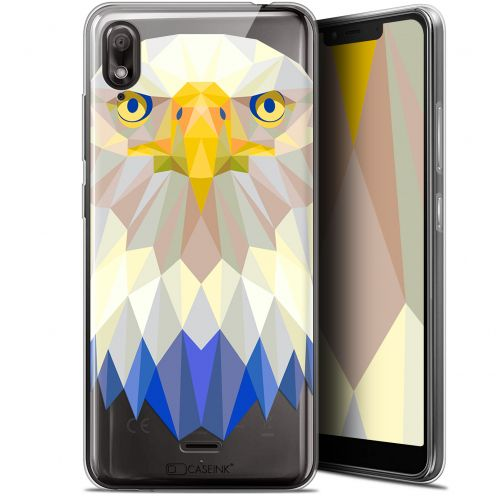 "Coque Gel Wiko View 2 GO (5.93"") Extra Fine Polygon Animals - Aigle"