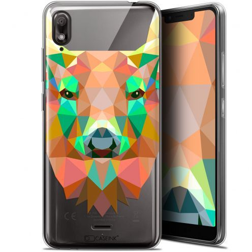 "Coque Gel Wiko View 2 GO (5.93"") Extra Fine Polygon Animals - Cerf"