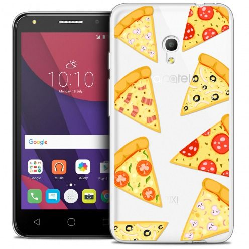 "Coque Crystal Gel Alcatel Pixi 4 5.0"" (5045X) Extra Fine Foodie - Pizza"