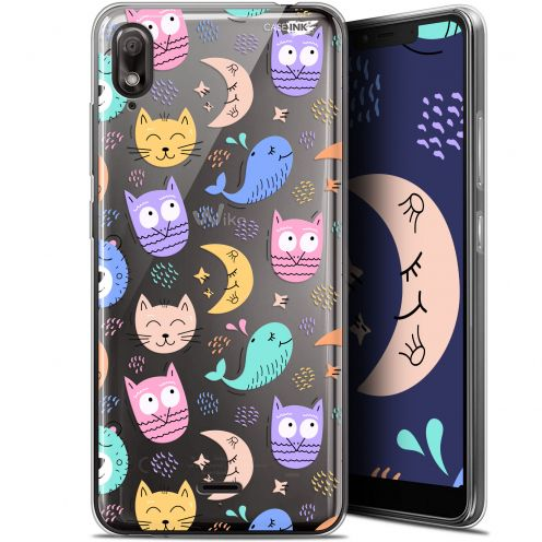 "Coque Gel Wiko View 2 GO (5.93"") Extra Fine Motif - Chat Hibou"