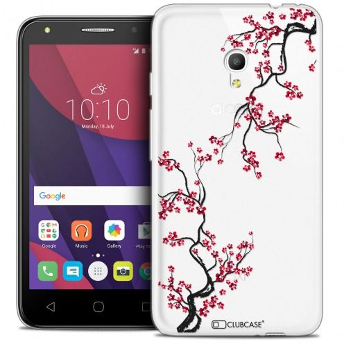 "Coque Crystal Gel Alcatel Pixi 4 5.0"" (5045X) Extra Fine Summer - Sakura"