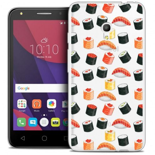"Coque Crystal Gel Alcatel Pixi 4 5.0"" (5045X) Extra Fine Foodie - Sushi"