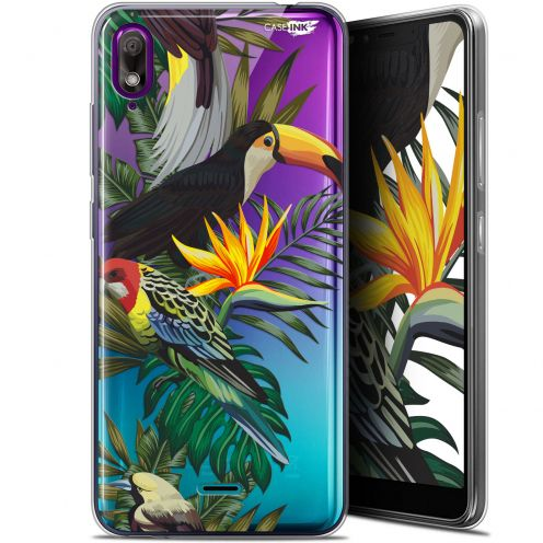 "Coque Gel Wiko View 2 GO (5.93"") Extra Fine Motif - Toucan Tropical"