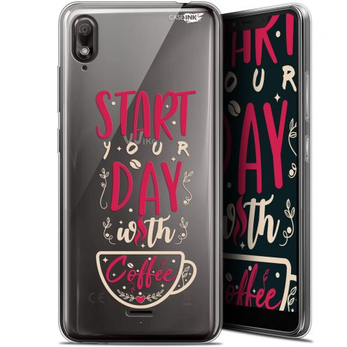 "Coque Gel Wiko View 2 GO (5.93"") Extra Fine Motif - Start With Coffee"