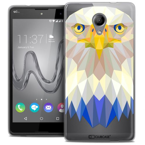 Coque Crystal Gel Wiko Robby Extra Fine Polygon Animals - Aigle