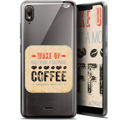 "Coque Gel Wiko View 2 GO (5.93"") Extra Fine Motif - Wake Up With Coffee"