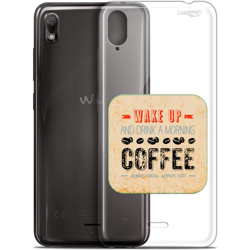 """Coque Gel Wiko View 2 GO (5.93"""") Extra Fine Motif - Wake Up With Coffee"""