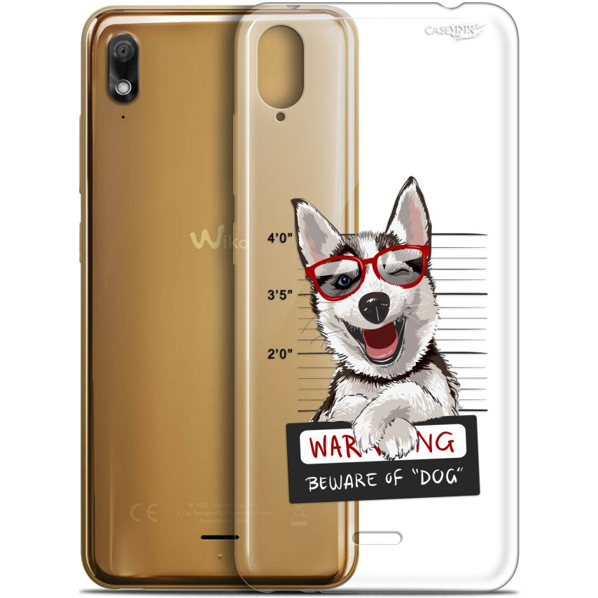 "Coque Gel Wiko View 2 GO (5.93"") Extra Fine Motif - Beware The Husky Dog"