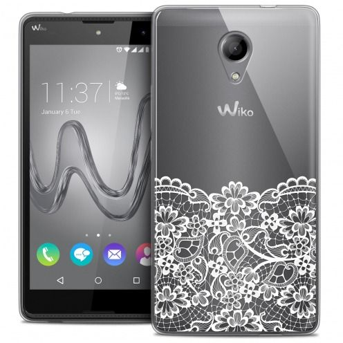 Coque Crystal Gel Wiko Robby Extra Fine Spring - Bas dentelle