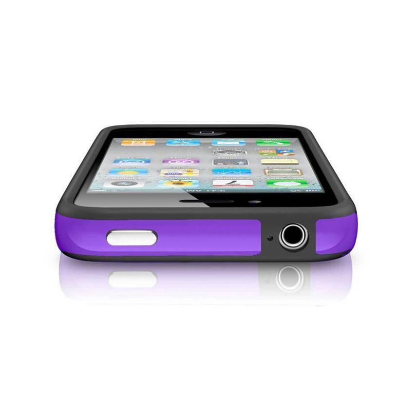 Visuel supplémentaire de Coque Bumper HQ Noir / Violet Pour iPhone 4S / 4