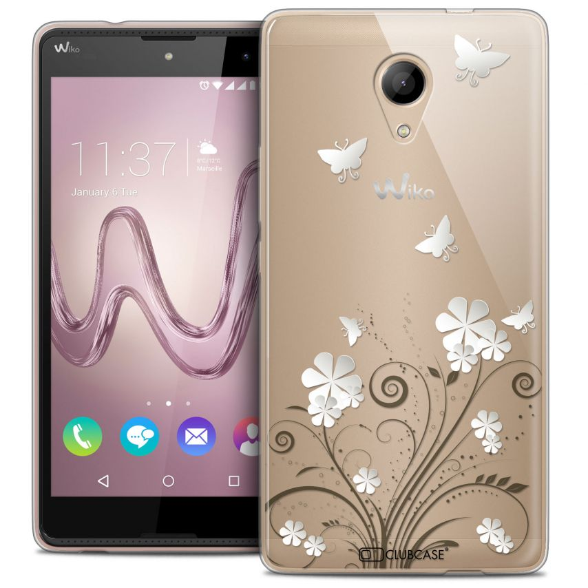 Coque Crystal Gel Wiko Robby Extra Fine Summer - Papillons
