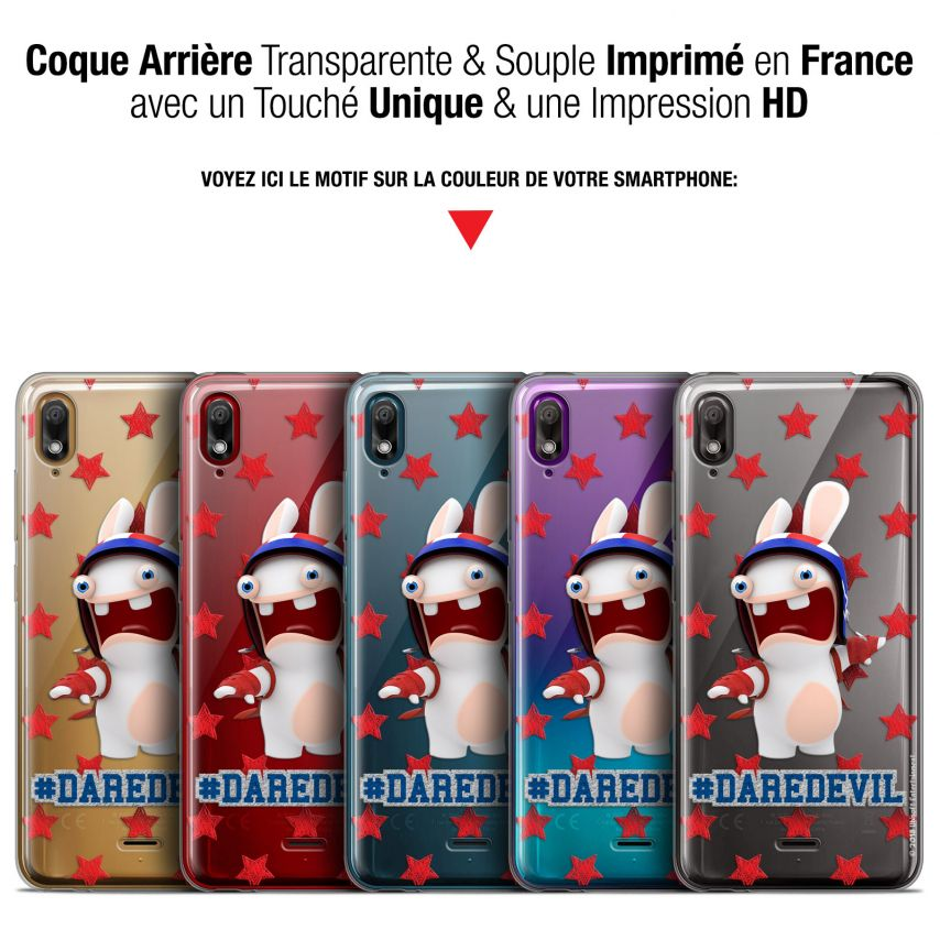 """Coque Gel Wiko View 2 GO (5.93"""") Extra Fine Lapins Crétins™ - Dare Devil"""