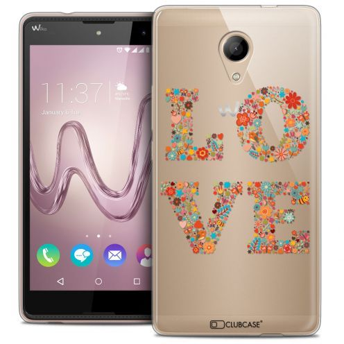 Coque Crystal Gel Wiko Robby Extra Fine Summer - Love Flowers