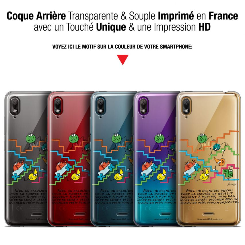 "Coque Gel Wiko View 2 GO (5.93"") Extra Fine Les Shadoks® - L'escalier"