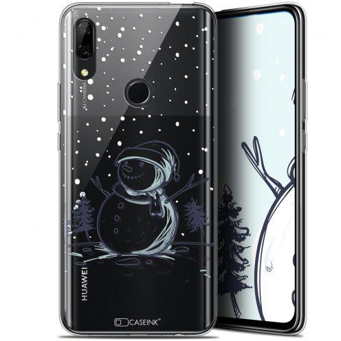 """Coque Gel Huawei P Smart Z (6.6"""") Extra Fine Noël 2017 - Bonhomme de Neige"""
