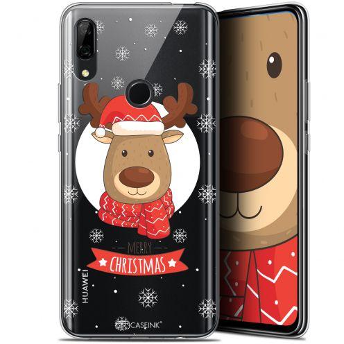 """Coque Gel Huawei P Smart Z (6.6"""") Extra Fine Noël 2017 - Cerf à Echarpe"""