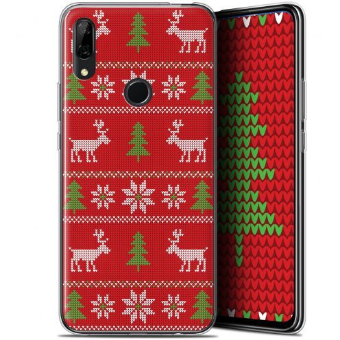 "Coque Gel Huawei P Smart Z (6.6"") Extra Fine Noël 2017 - Couture Rouge"