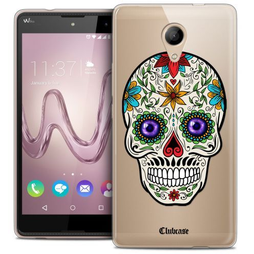 Coque Crystal Gel Wiko Robby Extra Fine Skull - Maria's Flower