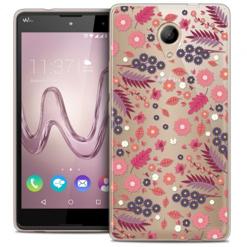 Coque Crystal Gel Wiko Robby Extra Fine Spring - Floraison