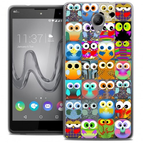 Coque Crystal Gel Wiko Robby Extra Fine Summer - Hibou
