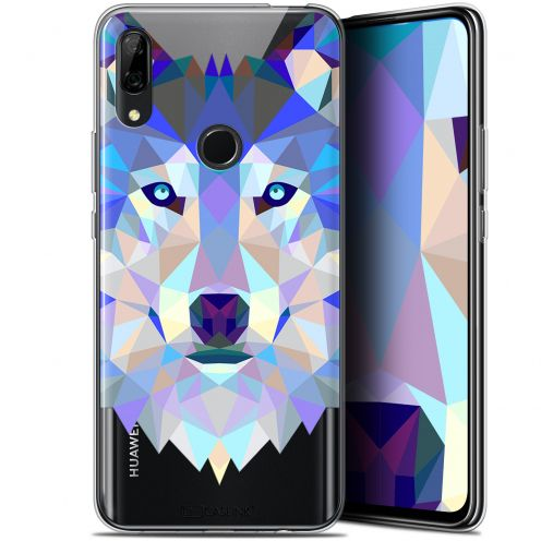 "Coque Gel Huawei P Smart Z (6.6"") Extra Fine Polygon Animals - Loup"
