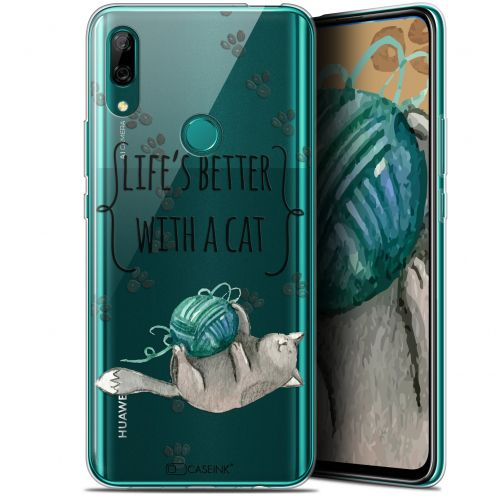 "Coque Gel Huawei P Smart Z (6.6"") Extra Fine Quote - Life's Better With a Cat"