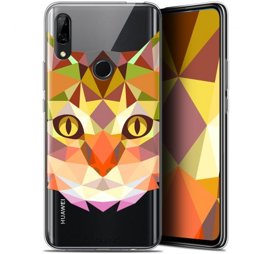 """Coque Gel Huawei P Smart Z (6.6"""") Extra Fine Polygon Animals - Chat"""