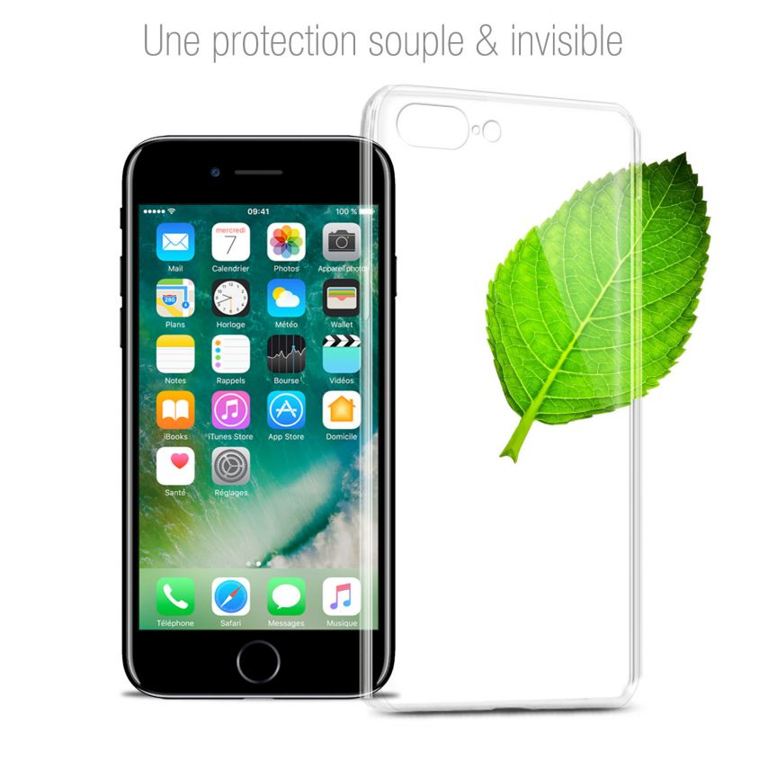 "Coque Apple iPhone 7 Plus (5.5"") Extra Fine Souple Gel Crystal Clear"