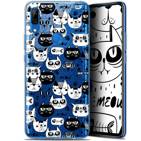 "Coque Gel Huawei P Smart Z (6.6"") Extra Fine Motif - Chat Noir Chat Blanc"
