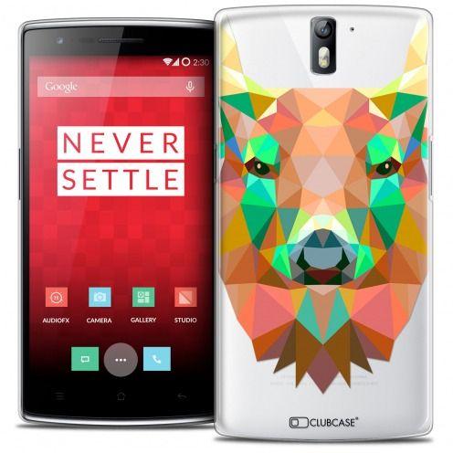 Coque Crystal Rigide OnePlus One Extra Fine Polygon Animals - Cerf