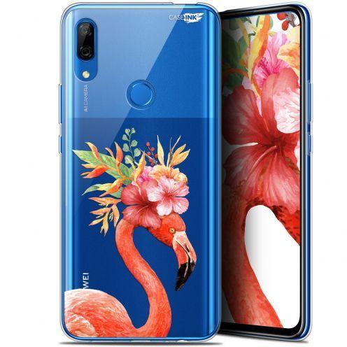 "Coque Gel Huawei P Smart Z (6.6"") Extra Fine Motif - Flamant Rose Fleuri"