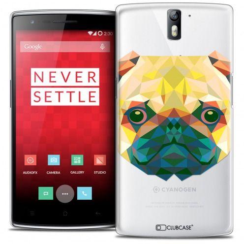 Coque Crystal Rigide OnePlus One Extra Fine Polygon Animals - Chien