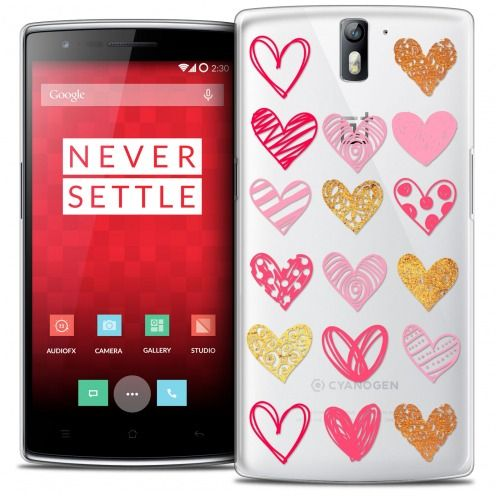 Coque Crystal Rigide OnePlus One Extra Fine Sweetie - Doodling Hearts