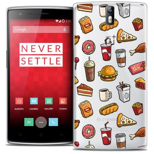 Coque Crystal Rigide OnePlus One Extra Fine Foodie - Fast Food