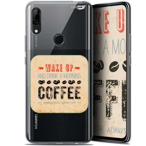 """Coque Gel Huawei P Smart Z (6.6"""") Extra Fine Motif - Wake Up With Coffee"""