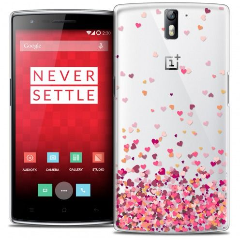 Coque Crystal Rigide OnePlus One Extra Fine Sweetie - Heart Flakes
