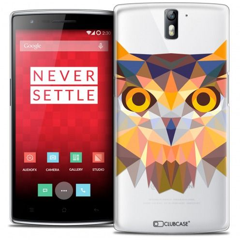Coque Crystal Rigide OnePlus One Extra Fine Polygon Animals - Hibou