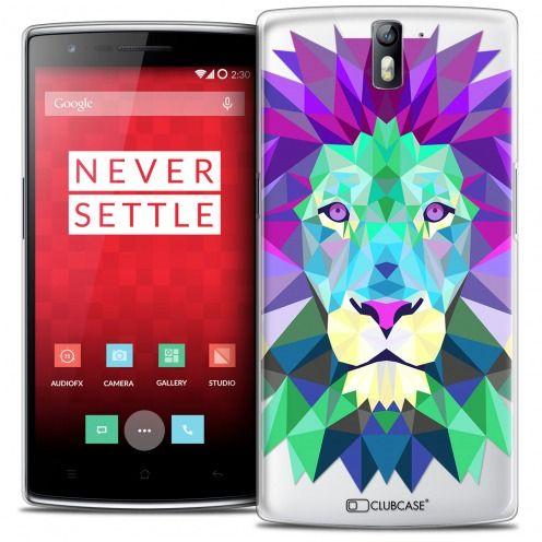 Coque Crystal Rigide OnePlus One Extra Fine Polygon Animals - Lion