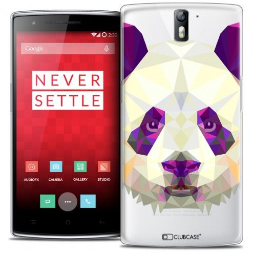Coque Crystal Rigide OnePlus One Extra Fine Polygon Animals - Panda