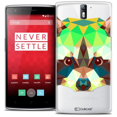 Coque Crystal Rigide OnePlus One Extra Fine Polygon Animals - Raton Laveur