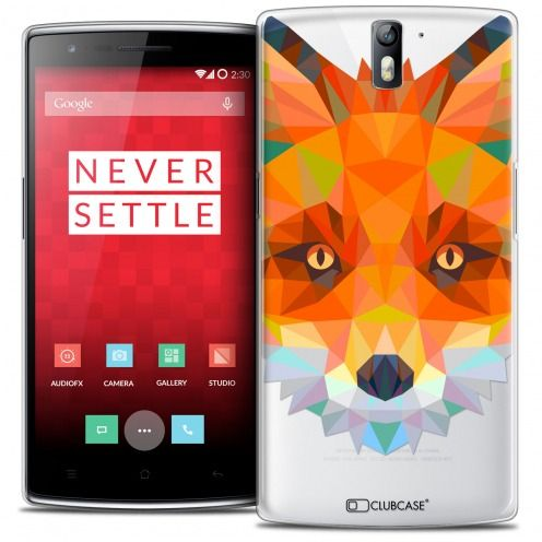Coque Crystal Rigide OnePlus One Extra Fine Polygon Animals - Renard