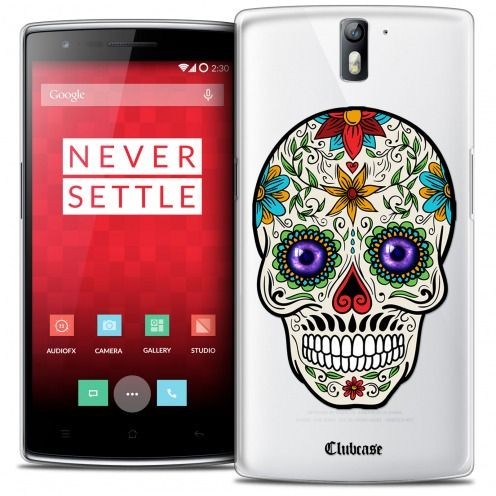 Coque Crystal Rigide OnePlus One Extra Fine Skull - Maria's Flower