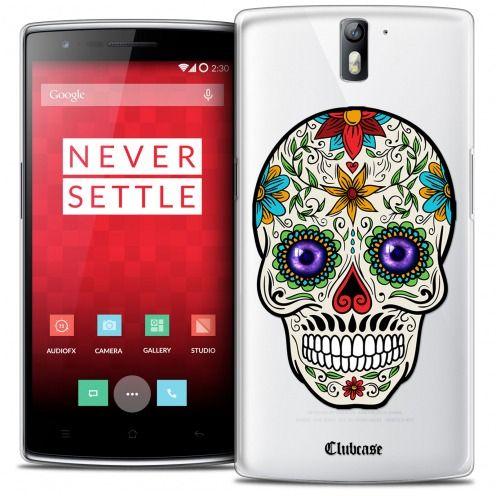 Coque Crystal Rigide OnePlus One Extra Fine Skull - Maria's Flower
