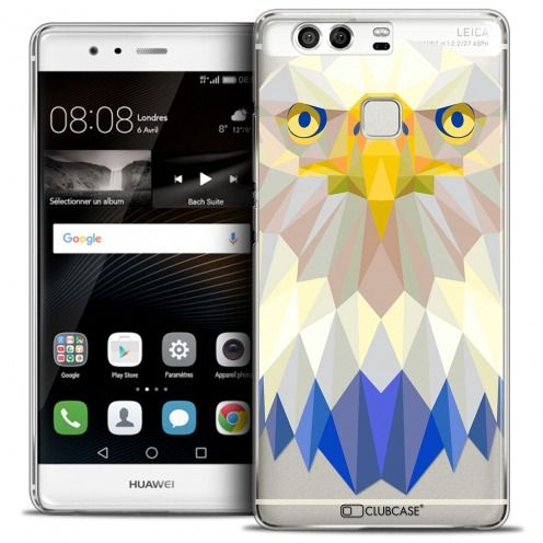 Coque Crystal Rigide Huawei P9 Extra Fine Polygon Animals - Aigle